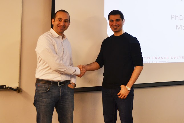 Congratulations to Masoud for his very successful PhD defence